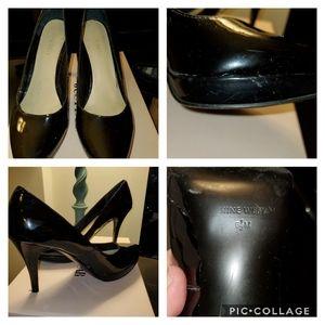 Nine West 6.5 Black Patent Heels